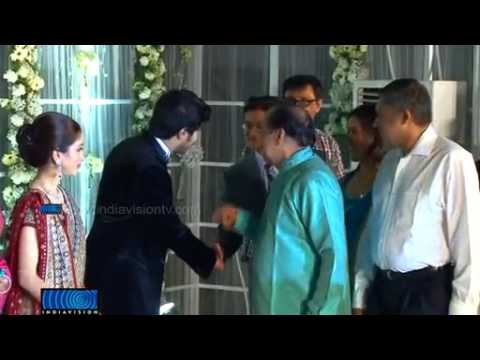 Mammootty Son Dulquar Salman Wedding reception video from Indiavision