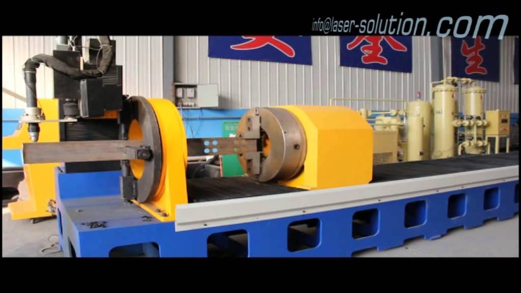 Square Tube Pipe Cnc Plasma Cutting Machine Youtube