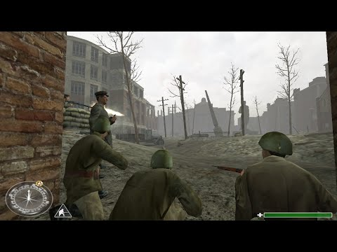 Stalingrad Battle - Soviet Control Retake Of The Red Square - Call of Duty 1 Gameplay HD
