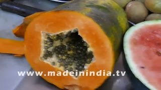 MAKING OF PAPAYA JUICE | HEALTHY STREET FOODS IN INDIA | MUMBAI STREET FOODS