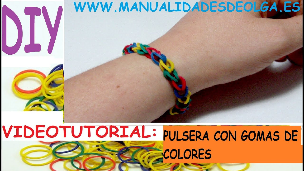 Como hacer una pulseras faciles de moda con gomitas ligas - Color de unas de moda ...