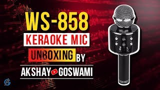 Karaoke Mic WS-858 || Unboxing review ||