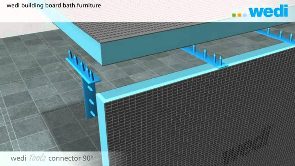Wedi building board bath furniture eng youtube - Plaat bad ...
