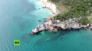 Terremoto en Puerto Rico destruye una famosa formación rocosa