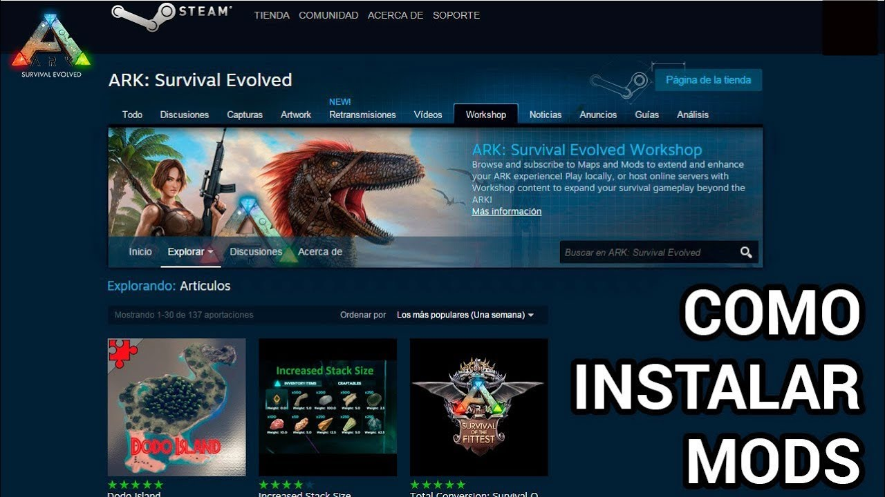 Wonderful Tutorial De Como Instalar Mods No Ark Survival Pela Steam!!