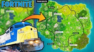 PASSENGER TRAIN in FORTNITE!? | Chaos