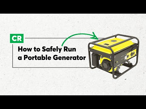 How to Run Your Portable Generator Safely   Consumer Reports