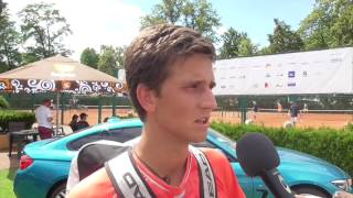 Vít Kopřiva po výhře ve 2. kole na turnaji Futures v Pardubicích