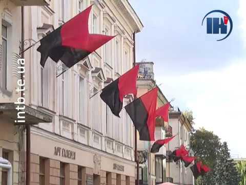 Телеканал ІНТБ: Тернопіль на кілька днів став червоно-чорним
