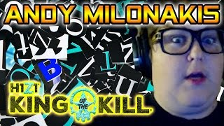 Andy Milonakis Plays H1Z1 KOTK - Cringe Freestyle Rap