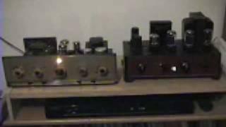 6V6GT grommes  mono amps in stereo