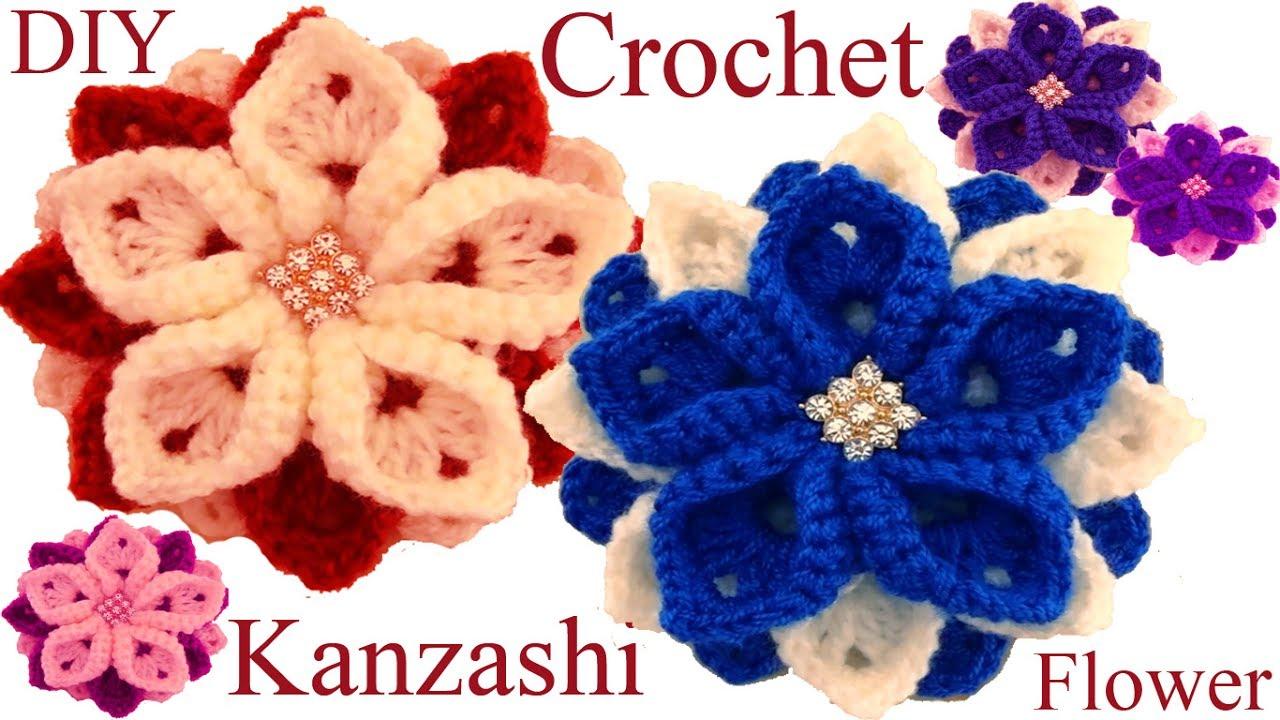 Como tejer una flor a ganchillo crochet tutorial paso a - Como hacer flores de ganchillo ...