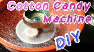 How To Make a Cotton Candy Machine - Cheap Household Materials!