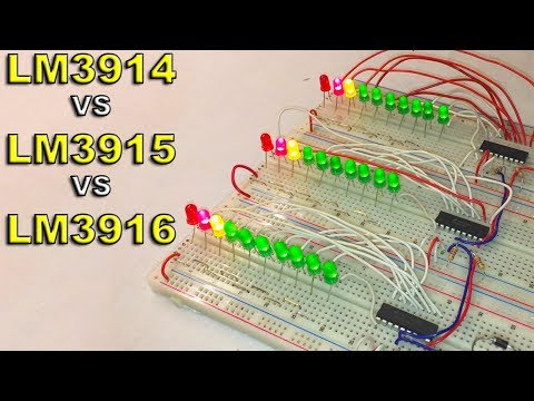 LM3914 vs LM3915 vs LM3916 - Differences and Uses + Electric