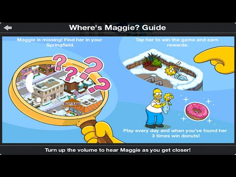 the simpsons tapped out where s maggie minigame youtube rh youtube com Simpsons Springfield Sign Simpsons Springfield Map