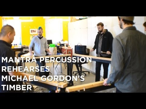 Mantra Percussion Rehearses Michael Gordon's Timber