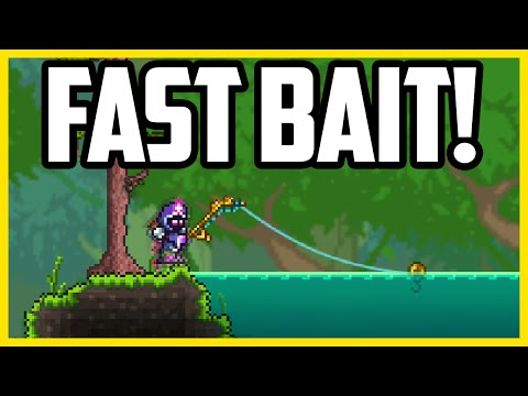 How To Get Bait in Terraria 1.3 EASY & FAST (AFK Bait Farm)