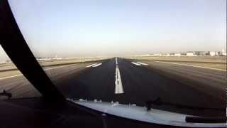 Dubai Take Off Runway 30R. Cockpit View.
