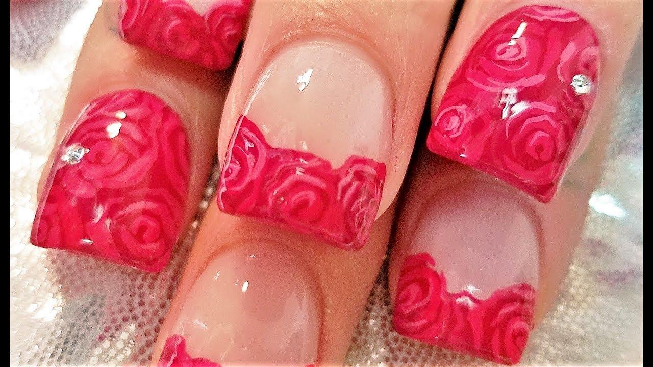 Diy easy red rose nails romantic roses nail art design tutorial diy easy red rose nails romantic roses nail art design tutorial youtube prinsesfo Choice Image