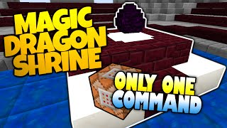 minecraft   magic dragon egg shrine   fly through the skies   only one command minecraft redstone