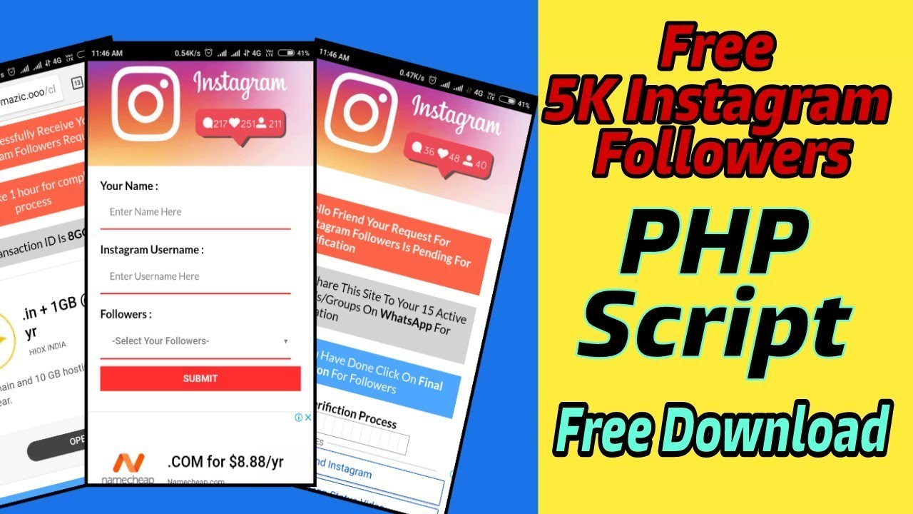 Whatsapp Viral PHP Script - Free 5K Instagram Followers | Free Download PHP  Script