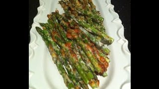Oven Roasted Parmesan Crumbed Asparagus Recipe -theitaliancookingclass.com
