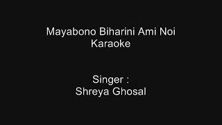 Mayabono Biharini Ami Noi - Karaoke - Shreya Ghosal