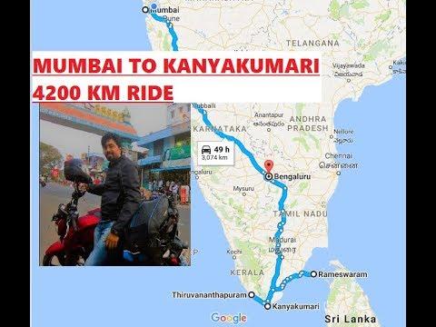 Solo Ride : Mumbai to Kanyakumari : 4200 kms Journey on Apache 200