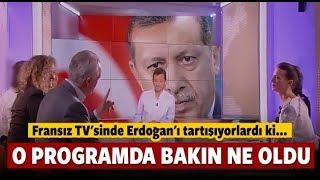 Fransız tv kanalında Erdoğan tartışması