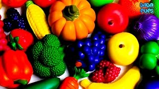 Learn the names of fruits and vegetables|Learn Colours with Fruit and Vegetables|Colors