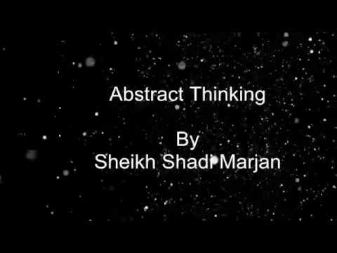 Abstract thinking by s.s.marjan
