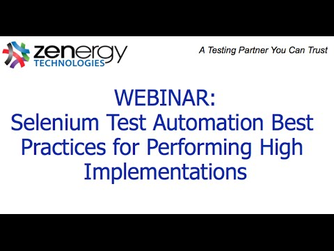 Selenium Test Automation Best Practices for High Performing Implementations