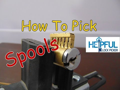 [125] Close Up On How To Pick Spool Pins (Lock Picking Security Pins)