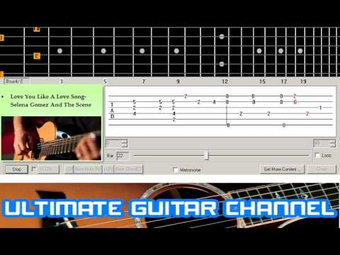 Guitar Solo Tab Love You Like A Love Song Selena Gomez And The