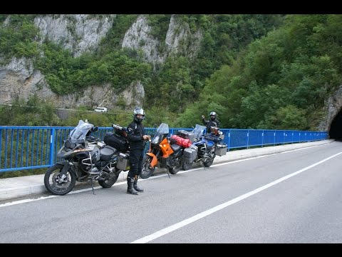 Montenegro Albania Serbia Macedonia trip on BMW 1200  GS ADVENTURE