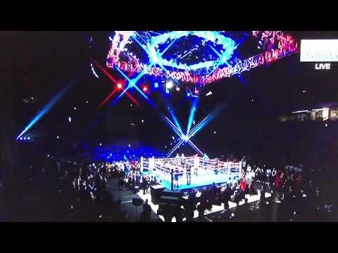 Natasha Sass sings Malaysian National Anthem before Manny Pacquiao - Matthyse fight