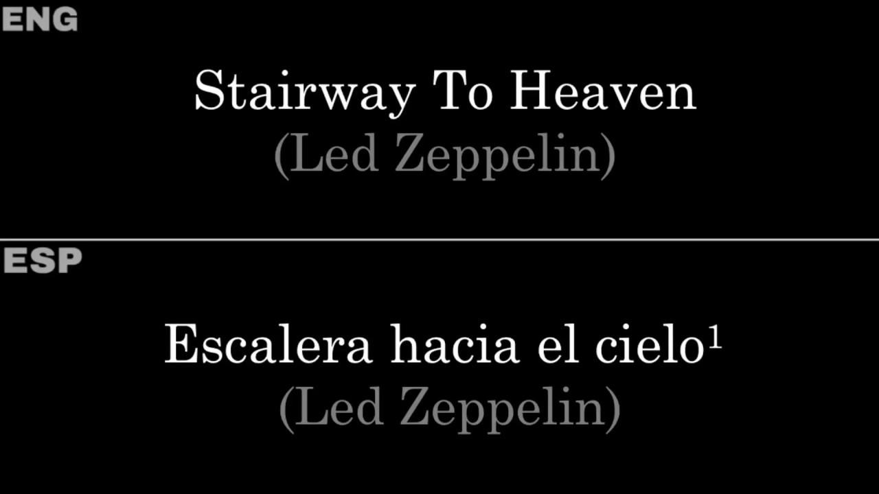 Download Stairway To Heaven (Led Zeppelin) — Lyrics/Letra en Español e Inglés