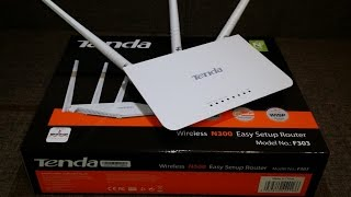 Router Tenda N300 F303 cu instalare super simpla plus Unboxing