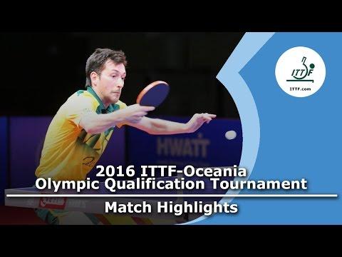 2016 Oceania Olympic Qualification Highlights: David Powell vs Chris Yan