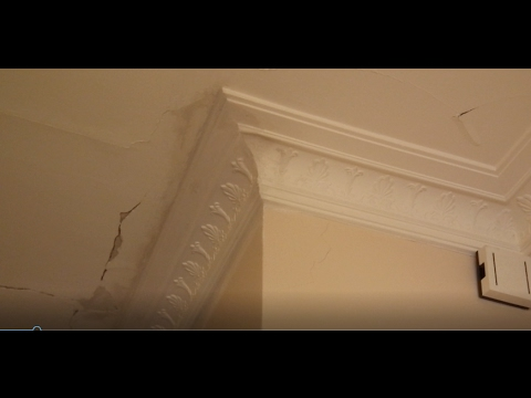 Fallen down cornice repair and re installation