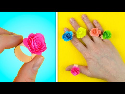 How to Make Ring with Paper Very Easy | Beautiful Paper Ring | Paper Ring Making Tutorial (2019)