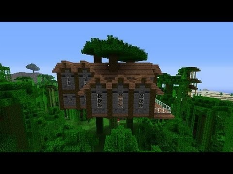 How to build a jungle tree house mansion in minecraft for How to build a mansion