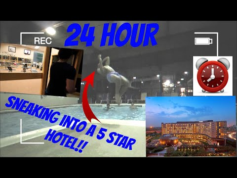 (LUXURY!) 24 HOUR OVERNIGHT CHALLENGE IN A 5 STAR HOTEL RESORT // SNEAKING INTO A 5 STAR RESORT HOW