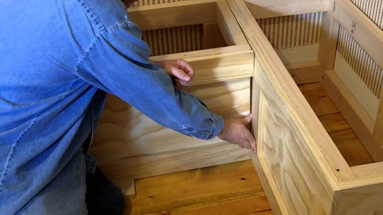 GettnCreative Breakfast Nook being built. - YouTube