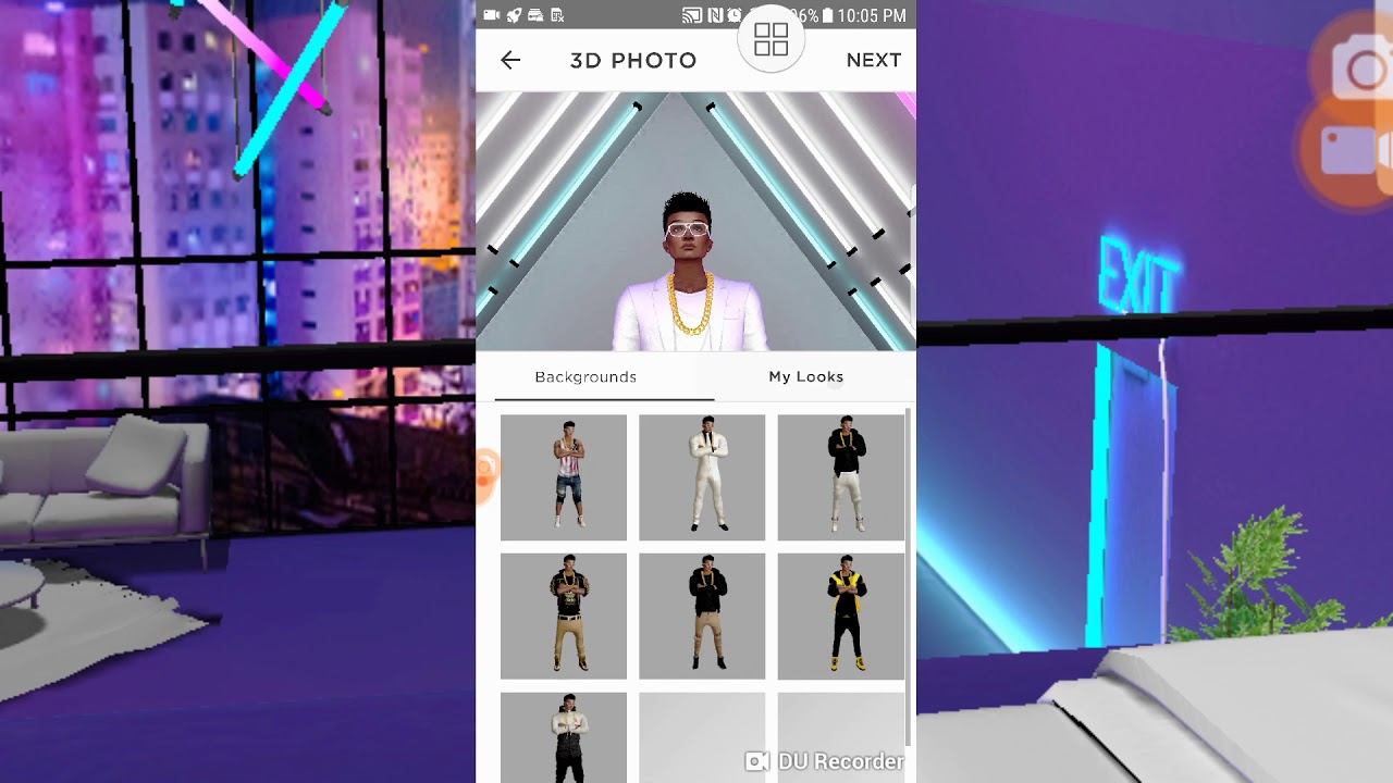 IMVU 3D LOOK MOBILE AND HOW TO TURN OF ROOM LOCATION