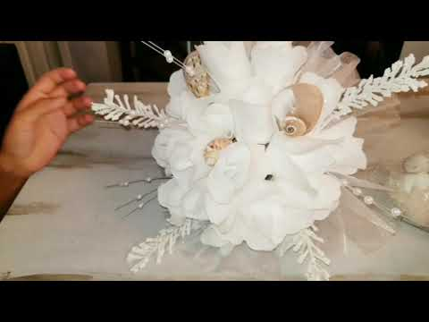 DIY - Easy Simple Bouquet / centerpiece - Seashell Wedding beach outdoor Party  Event Decor