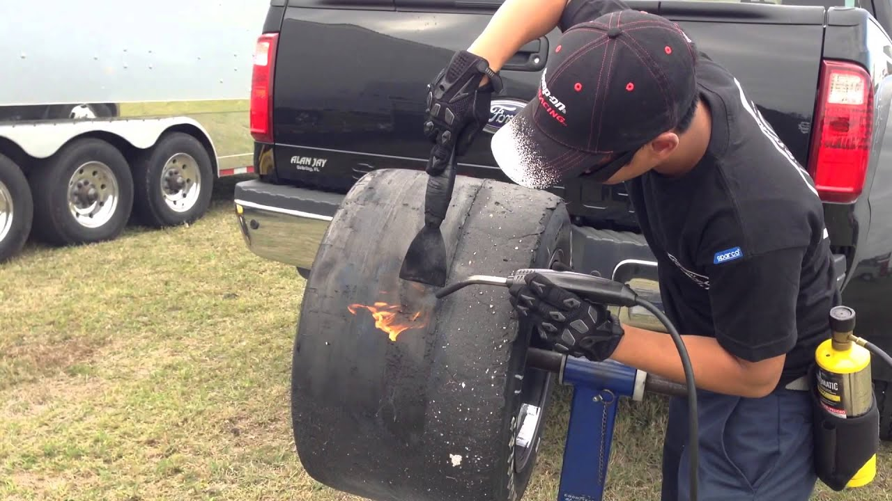 Racing Tire Cleaning - YouTube