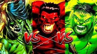 Скаар VS Халк VS Красный Халк