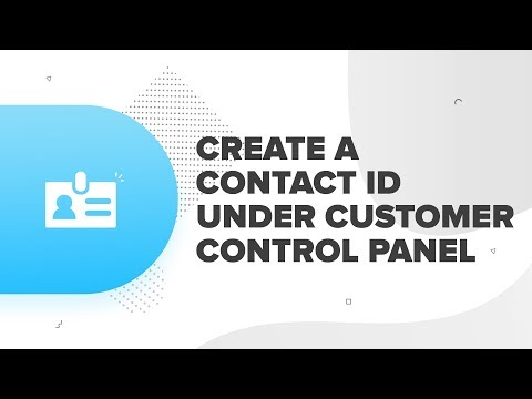 How to create a contact ID under customer control panel | ResellerClub