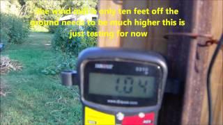 First Testing Squirrel Cage Fan Wind Mill Open Load Vertical Wind Turbine